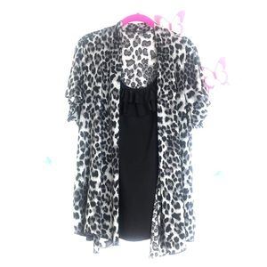 Perseptions Size XL One Piece Blouse Animal Print